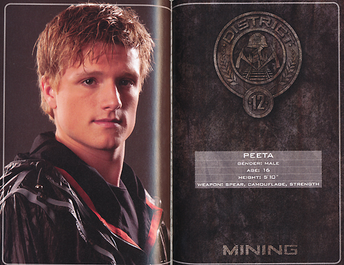 The Hunger Games wallpaper containing a sign titled peeta