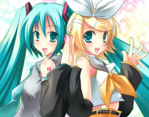 rin and miku