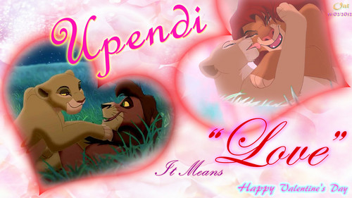 """Upendi"" Lion King Love Wallpaper"