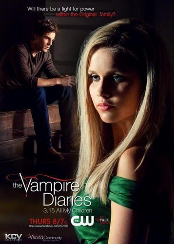 The Vampire Diaries TV دکھائیں پیپر وال with a portrait and attractiveness called 3x15-TVD-Promotional Poster-The Origianls-HD-Clarie Holt-Nathaniel-Buzolic
