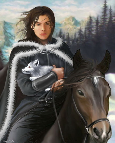 A Song of Ice and Fire wallpaper with a horse wrangler, a lippizan, and a horse trail called Jon Snow