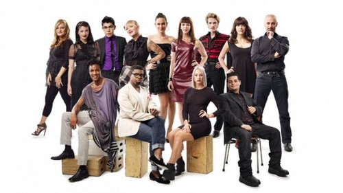 Project Runway wallpaper with a business suit and a well dressed person entitled ALL STARS