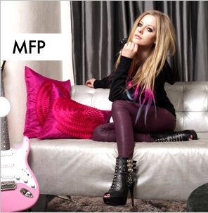 Avril Lavigne wallpaper containing a living room and a family room entitled Abbey Dawn Spring 2012