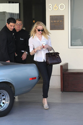 Amber Heard leaves the Michael Kors designer boutique in Beverly Hills