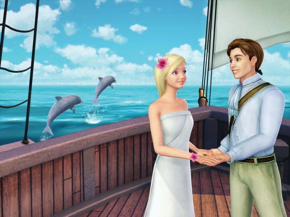 Princess of the island enjoys a stranger