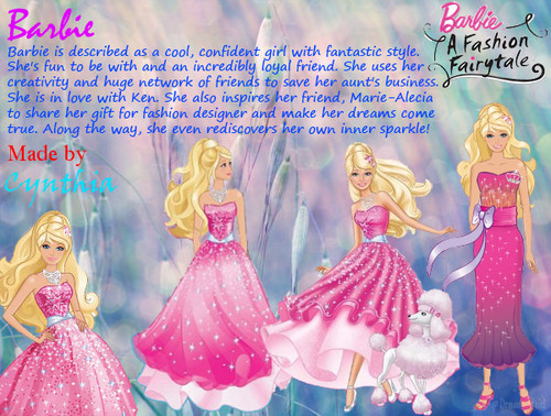Barbie In a Fashion Fairytale! karatasi la kupamba ukuta titled Barbie