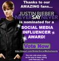 Beliebers, VOTE 4 JUSTIN!! - justin-bieber photo
