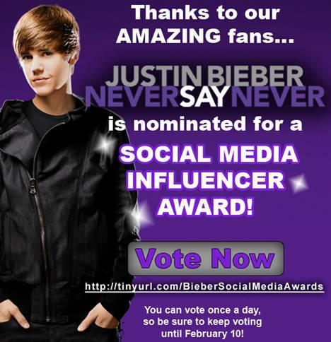 Beliebers, VOTE 4 JUSTIN!!