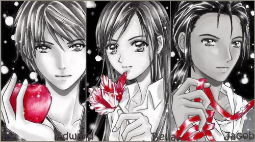 Bella,Edward and Jacob . anime