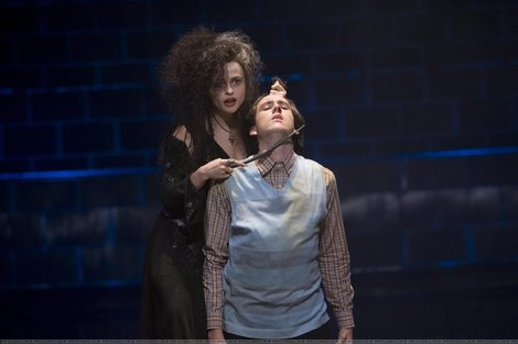Bellatrix Lestrange fond d'écran possibly with a cocktail dress, a garment, and a well dressed person titled Bellatrix and Neville