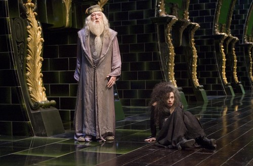 Bellatrix with Dumbledore