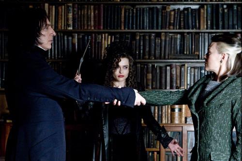 Bellatrix with Narcissa and Snape