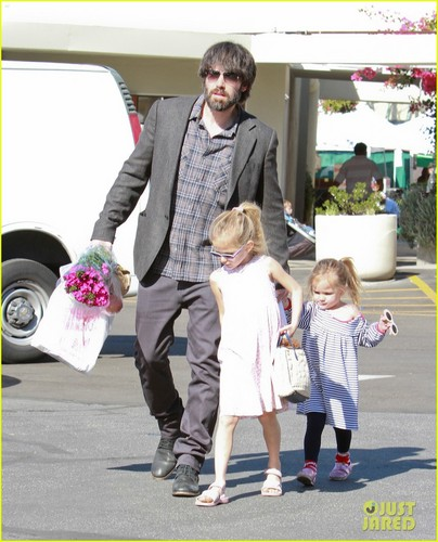 Ben Affleck and girls 2012