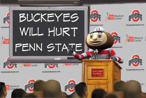 Brutus Says BUCKEYES WILL HURT PENN ST.