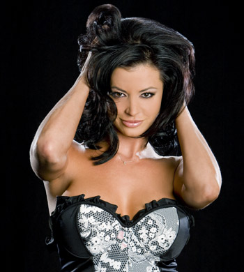 Candice Michelle 壁纸 probably with attractiveness, a bustier, and a 《内衣少女》 entitled Candice Michelle Photoshoot Flashback