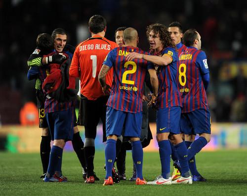 Carles Puyol: FC Barcelona (2) v Valencia CF (0) - Copa del Rey