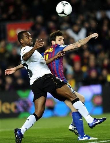 Cesc Fabregas: FC Barcelona (2) v Valencia CF (0) - Copa del Rey