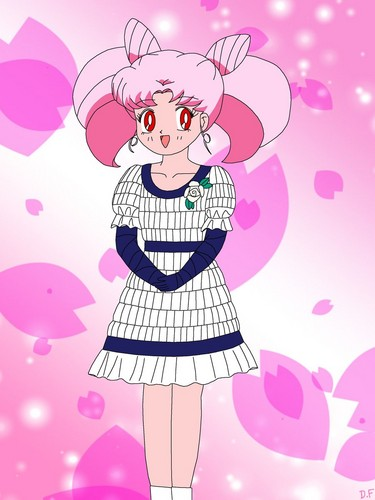 Sailor Mini moon (Rini) achtergrond possibly containing anime called Chibiusa (Rini)