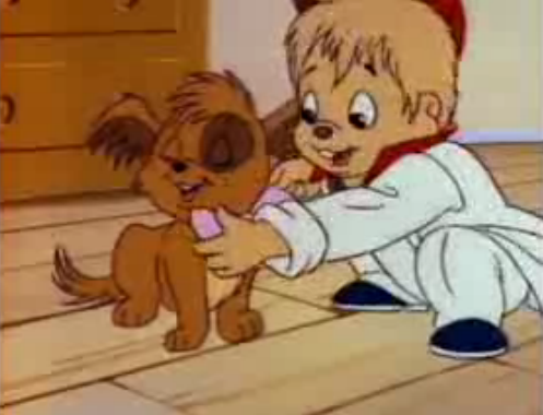 Chipmunks and their puppy - alvin-and-the-chipmunks Screencap