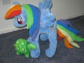 Custom My Little Pony Rainbow Dash and Tank - my-little-pony-rainbow-dash fan art