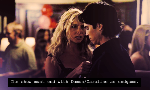 Damon & Caroline Hintergrund possibly containing a portrait titled DC <3