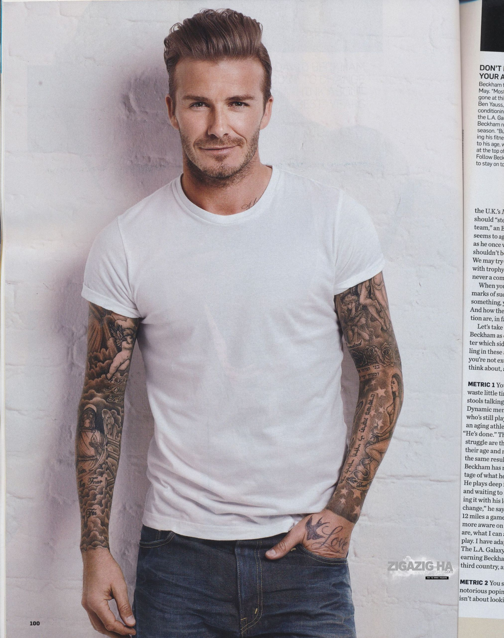 David Men S Health March 2012 David Beckham Photo