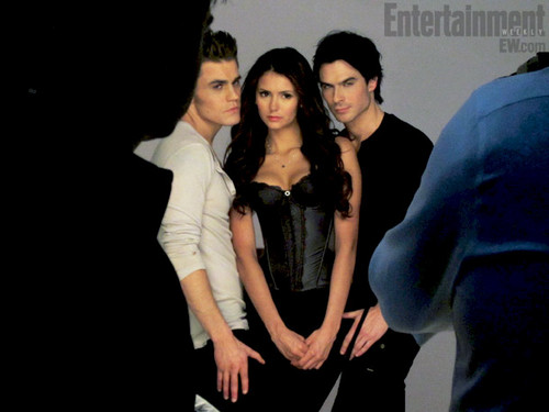The Vampire Diaries TV ipakita wolpeyper containing a well dressed person and long trousers entitled EW photoshoot