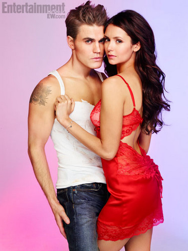 The Vampire Diaries TV ipakita wolpeyper entitled EW photoshoot