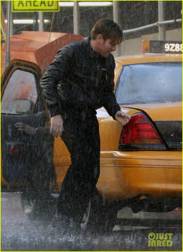 Ewan McGregor: Rainstorm For 'The Corrections'