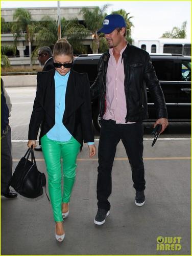 Fergie Takes Flight With Josh Duhamel