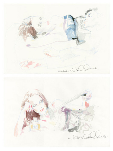 Galliano sketches for Miss Dior