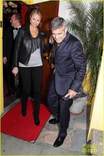 George Clooney & Stacy Keibler Dine at Dan Tana's