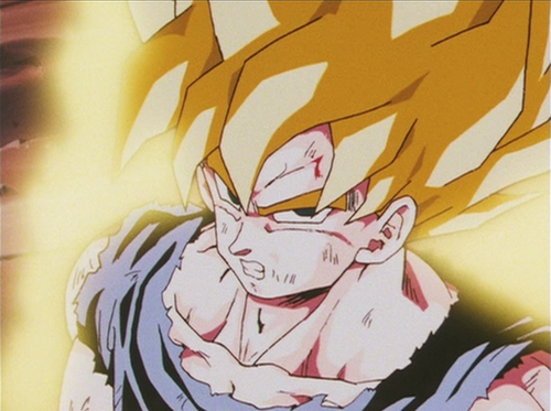 Dragon Ball Z wallpaper probably with anime entitled Goku Super Saiyan