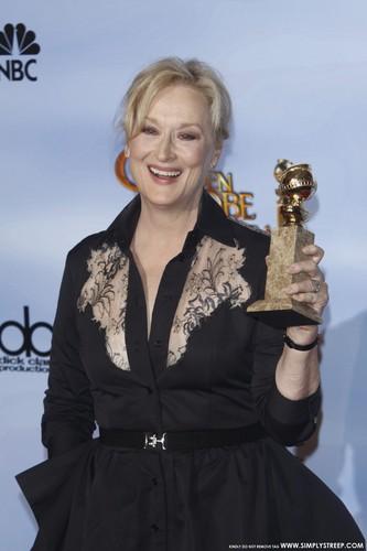Golden Globe Awards - Press Room [January 15, 2012]
