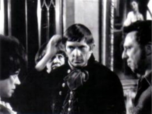 Dark Shadows wallpaper probably containing a holding cell titled Grayson Hall, Jonathan Frid and Dan Curtis
