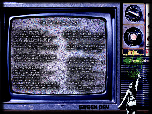 Green Day wallpaper called Green Day: The Static Age-Lyrics