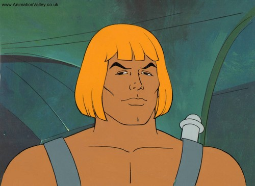 Hand Painted He-Man animatie Production Cel