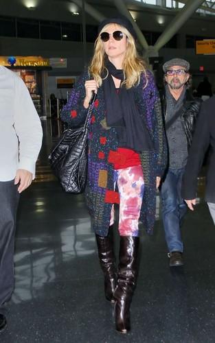 Heidi arrinving at JFK