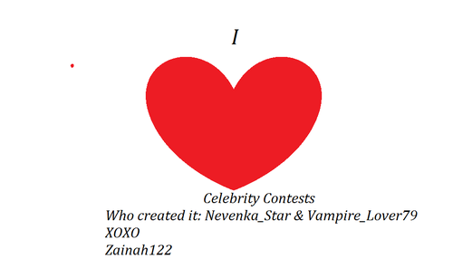 Celebrity Contests wallpaper called I ♥ Celebrity Contests!