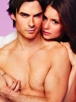 Ian Somerhalder and Nina Dobrev wallpaper containing skin entitled Ian/Nina ღ