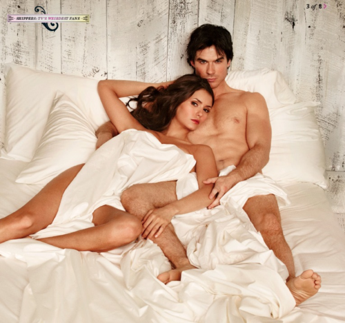 Ian Somerhalder and Nina Dobrev wallpaper containing skin called Ian/Nina ღ