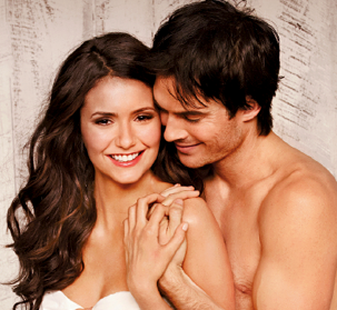 Ian Somerhalder and Nina Dobrev wallpaper with skin entitled Ian and Nina EW photo shoot
