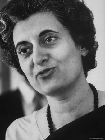 Indira Priyadarshini Gandhi ( 19 November 1917 – 31 October 1984