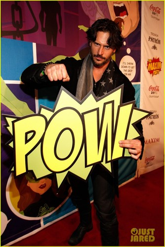 Joe Manganiello wallpaper containing anime called Joe Manganiello: Maxim Super Bowl Party!