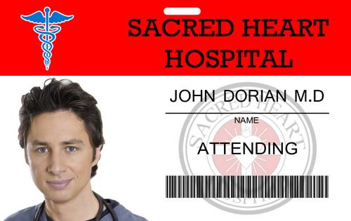 John Dorian Sacred cœur, coeur ID Card