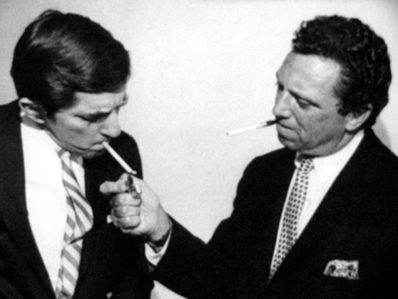 Jonathan Frid and Dan Curtis