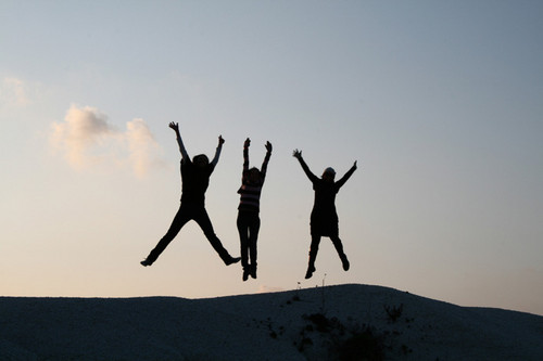 Just jump into the air and be happy!