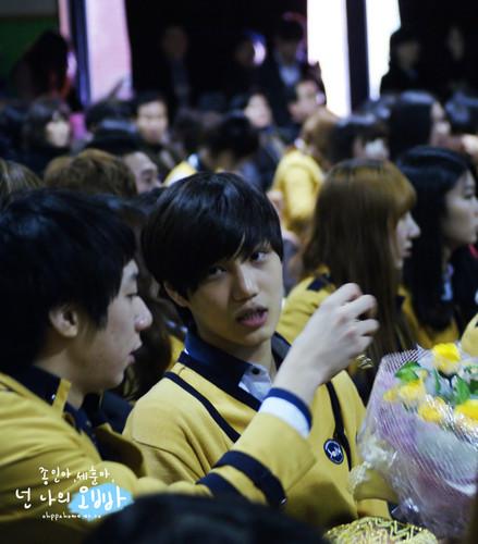 KAI at The School Of Performing Arts Seoul graduation ceremony