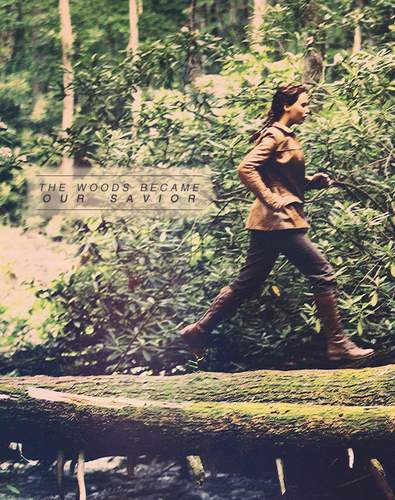 The Hunger Games wallpaper probably containing a hip boot entitled Katniss<3