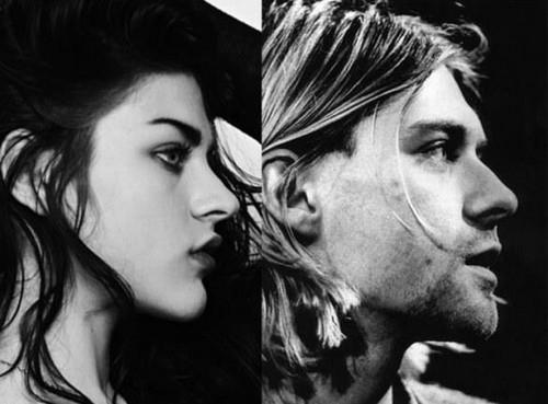 Kurt Cobain .Frances sitaw Cobain